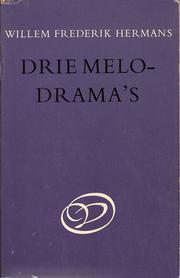 Cover of: Drie melodrama's