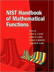 Cover of: NIST Handbook of Mathematical Functions