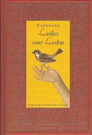 Cover of: Liedjes voor Lesbia