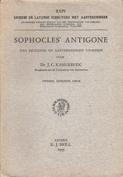 Cover of: Sophocles' Antigone