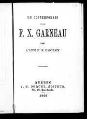 Cover of: F.X. Garneau