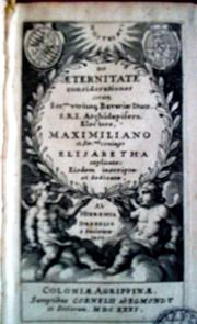 Cover of: De æternitate considerationes
