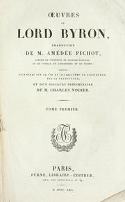 Cover of: Oeuvres de Lord Byron