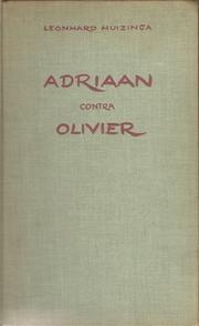 Cover of: Adriaan contra Olivier