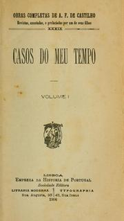Cover of: Casos do meu tempo