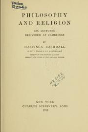 Cover of: Philosophy and religion