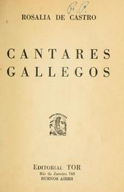 Cover of: Cantares gallegos