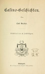 Cover of: Casino-Geschichten