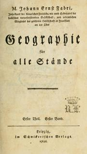 Cover of: Geographie für alle Staende