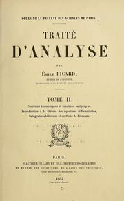 Cover of: Traité d'analyse