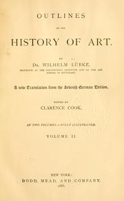 Cover of: Outlines of the history of art.