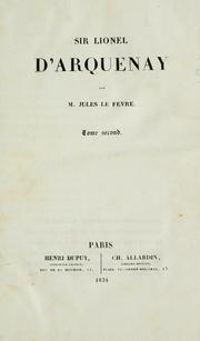 Cover of: Sir Lionel d'Arquenay