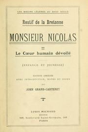 Cover of: Monsieur Nicolas