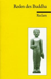 Cover of: Die Reden des Buddha