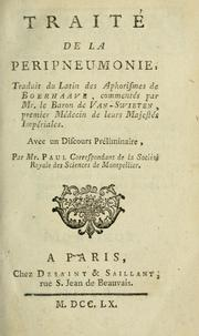 Cover of: Traité de la peripneumonie