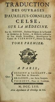 Cover of: Traduction des ouvrages d'Aurelius-Cornelius Celse, sur la médecine