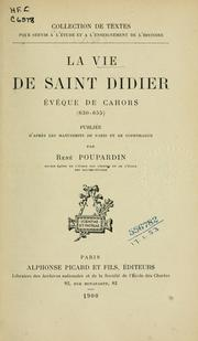 Cover of: La vie de Saint Didier