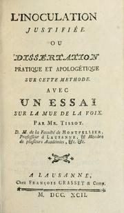 Cover of: L'innoculation justifibee