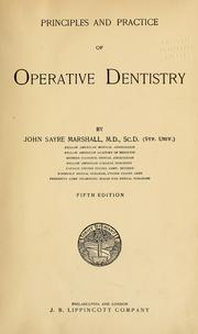 Cover of: Principles and practice of operative dentistry