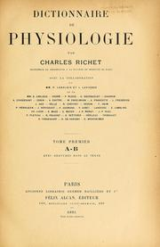 Cover of: Dictionnaire de physiologie