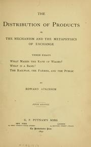 Cover of: The distribution of products