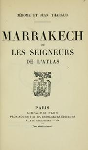 Cover of: Marrakech