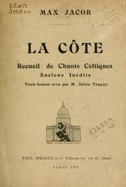 Cover of: La côte