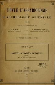 Cover of: Notes Assyriologiques