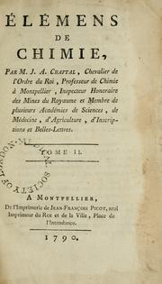 Cover of: Elémens de chimie