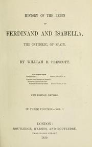 Cover of: History of the reign of Ferdinand and Isabella