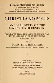 Cover of: Christianopolis
