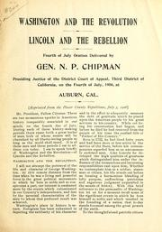 Cover of: Washington and the revolution