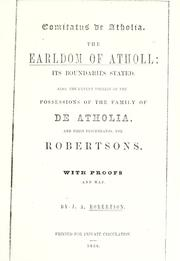 Cover of: Comitatus de Atholia