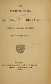 Cover of: The poetical works of Akenside and Beattie