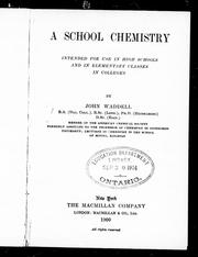 Cover of: A school chemistry