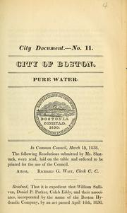 Cover of: Pure water