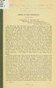 Cover of: Forum of the presidents