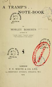 Cover of: A tramp's note-book