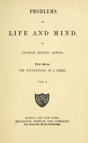 Cover of: Problems of life and mind