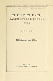 Cover of: Christ Church, Salem Street, Boston, 1723