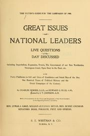 Cover of: The voter's guide for the campaign of 1900