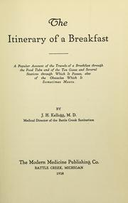 Cover of: The itinerary of a breakfast