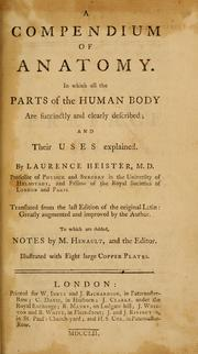 Cover of: A compendium of anatomy
