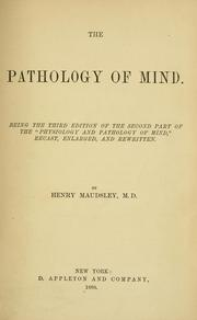 Cover of: The pathology of mind