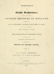 Cover of: Specimens of Gothic architecture