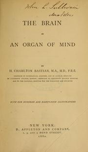 Cover of: The brain as an organ of mind