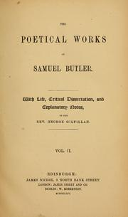 Cover of: The poetical works of Samuel Butler