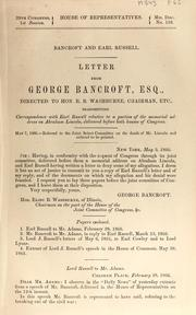 Cover of: Bancroft and Earl Russell