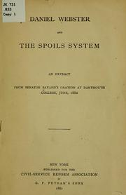 Cover of: Daniel Webster and the spoils system