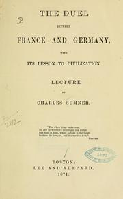 Cover of: The duel between France and Germany
